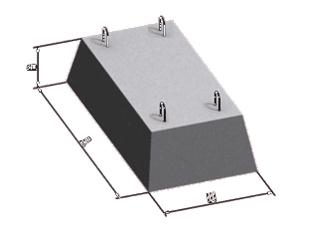 Организация реализует фундамент ленточный всех размеров, согласно гост с доставкой на объект